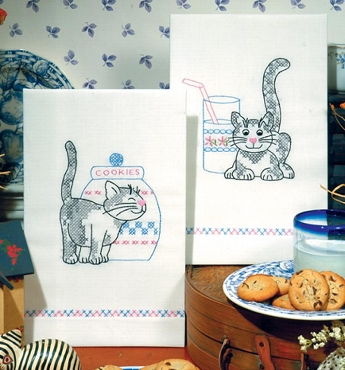 Kittens Kitchen Towels - one pair